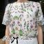 Lady Ribbon เดรสแขนสั้นพิมพ์ลายดอกไม้ สไตล์ classy vintage thumbnail 8