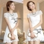 Lady Ribbon White Blossom Embroidery Gala Mini Dress thumbnail 5