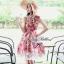 Lady Ribbon Rosalyn Dress เดรสลายดอกไม้ พร้อมริบบิ้นผูกเอว thumbnail 2