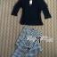 Lady Ribbon เซ็ทเสื้อแขนยาวและกางเกงขายาวลายตาราง thumbnail 6