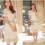 Lady Ribbon Lace Maxi Dress แม็กซี่เดรสแขนสั้น ผ้าลูกไม้ จั๊มเอว thumbnail 3