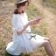 Lady Ribbon มินิเดรสผ้าลูกไม้สีขาว ฉลุลาย น่ารักหวานใส thumbnail 1