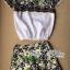 Lady Ribbon Set เซ็ตเสื้อแขนสั้นและกางเกงขาสั้นพิมพ์ลายดอกไม้ thumbnail 7