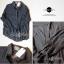 Lady Ribbon Sassy Shirt เสื้อเชิ้ตแขนยาว ตัดต่อผ้าตาข่าย ซีทรู สีขาว+สีดำ thumbnail 9