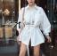 Lady Ribbon White Shirt Dress with Belt thumbnail 1