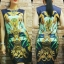 Vintage Dress เดรสแขนกุด พิมพ์ลายวินเทจสไตล์ไฮแบรนด์ thumbnail 4