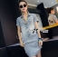 Lady Ribbon Mickey Printed Embellished Denim Shirt Dress thumbnail 3