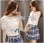 Lady Ribbon Lace Top and Printed Skirt Set thumbnail 2