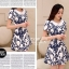 Icevanilla Delicate Flower Pearl and Diamond Print Dress thumbnail 2