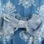 Icevanilla เดรสยีนส์ลายวินเทจ แต่งสร้อยประดับมุก thumbnail 8
