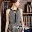 Lady Ribbon Maxi Dress เดรสยาวผ้าชีฟองผ่าข้าง ขายพร้อมเข็มขัด thumbnail 5