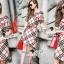 Seoul Secret Burberry Red Ribbon Dress thumbnail 1