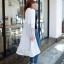 CELEBSTYLE เสื้อคลุมแบบยาว ช่วงกระโปรงตัดต่อผ้าตาข่าย สีขาว thumbnail 3