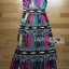 Lady Ribbon Colorful Graphic Printed Maxi Dress thumbnail 7