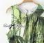Lady Ribbon Green Leaf Jumpsuit จั๊มสูทขาสั้น พร้อมเข็มขัด thumbnail 6