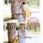 Lady Ribbon Lace V collar blouse เสื้อปักฉลุตัวยาวคอวี thumbnail 9