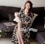 Lady Ribbon Black and White Daisy Wrap Maxi Dress thumbnail 6