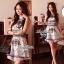 Lady Ribbon Givenchy Print Mini Dress มินิเดรสผ้าซิลค์พิมพ์ลาย thumbnail 4