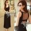 Lady Ribbon Maxi Dress เดรสยาวแขนกุด เปิดหลัง สีเทา สีดำ thumbnail 1
