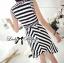 Lady Ribbon Lady Charlies Mix Striped Monochrome Dress thumbnail 4