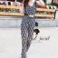 Seoul Secret จั๊มสูทกางเกงขายาว ทรงคอถ่วง แถมเข็มขัด thumbnail 3