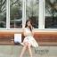 Ice Vanilla Romantic Retro Flower Sleeveless Dress thumbnail 5