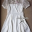 Lady Sweet Mini Dress เดรสตัดต่อลูกไม้ผ้าแก้วออแกนซ่า ลายดอกไม้ thumbnail 8