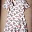Lady Ribbon Mini Dress เดรสพิมพ์ลาย แต่งระบายชายกระโปรง thumbnail 8
