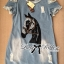 Lady Ribbon Horse Embellished Ripped Faded Denim Dress thumbnail 5