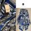 Lady Ribbon เสื้อคลุมเดรส ผ้าพิมพ์ลายสุดหรู สีน้ำเงิน thumbnail 9