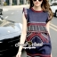 Seoul Secret Chic Navy Bohe Mini Dress thumbnail 5
