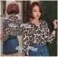 Lady Ribbon Leopard Print Shirt เชิ้ตพิมพ์ลายเสือ thumbnail 4