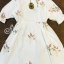 Sevy Baby Doll Embroidered Flower Mini Dress thumbnail 6