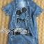 Lady Ribbon Mickey Printed Embellished Denim Shirt Dress thumbnail 9