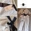 Lady Ribbon ชุดเซ็ตเสื้อกางเกงขายาว ผ้าลูกไม้สีเนื้อ พร้อมริ้บบิ้นสีดำ thumbnail 6
