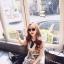 Ice Vanilla เดรสแขนกุดสีขาว พิมพ์ลายสไตล์เกาหลี thumbnail 11