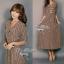 Lady Ribbon Stripe Maxi Dress แม็กซี่ลายทาง โทนสีน้ำตาล thumbnail 6