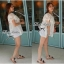 Lady Ribbon เสื้อลูกไม้สีขาว ดีเทลระบาย ปักฉลุลายดอก thumbnail 6