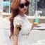 Seoul Secret เสื้อลูกไม้ทอลายดอกเดซี่เล็กๆ thumbnail 3