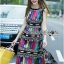 Lady Ribbon Colorful Graphic Printed Maxi Dress thumbnail 2