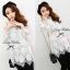 Lady Ribbon Lace Mini Dress มินิเดรสลูกไม้แขนยาว แขนซีทรู thumbnail 8