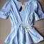 Lady Ribbon เสื้อจับจีบช่วงเอว ชายระบาย สีฟ้า/ชมพู thumbnail 10