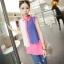 เสื้อชีฟองสีชมพู ชายเสื้อด้านหน้าสั้น ด้านหลังยาว thumbnail 1