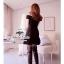 B&W Ribbon Mini Dress มินิเดรสโทนสีขาวดำ แต่งโบว์ thumbnail 5