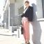 กางเกงขายาว ผ้าฝ้าย ผสม Polyester สีชมพู Size M,L thumbnail 2