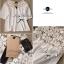 Lady Ribbon เสื้อผ้าคอตตอน สีชมพู ขาว กรมท่า ปักลายดอกไม้ thumbnail 15