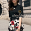 Seoul Secret Set Black Blouse with Blossom Pants thumbnail 6