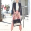 กางเกงขายาว ผ้าฝ้าย ผสม Polyester สีชมพู Size M,L thumbnail 3