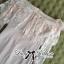 Lady Ribbon Dress เดรสเปิดไหล่ประดับขนนกสีชมพู thumbnail 8