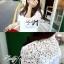 Lady Ribbon White Lace Shirt เสื้อเชิ้ตสีขาว แต่งลูกไม้ thumbnail 9